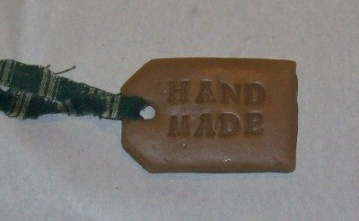 hand made hang tag