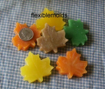 Small Fall Leaves Candle & Soap Mold