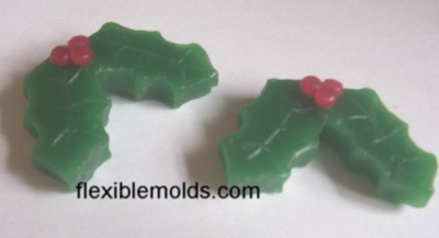 Holly Leaves Soap & Candle Mold